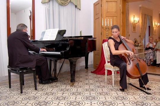 Recital at the Paderewski's Mansion, Kąśna Dolna, Dobrochna Zubek and Andrzej Zubek, 2004